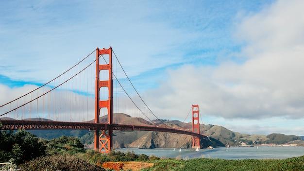 Panoramamening van golden gate bridge, san francisco, californië, de vs