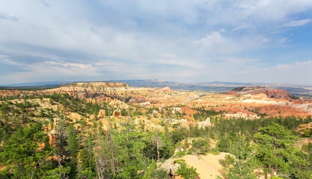 Panoramisch bovenaanzicht op bryce canyon national park