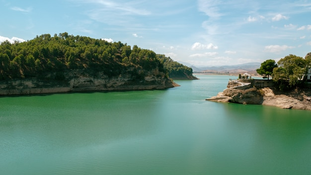 Panoramisch in de dam van de graaf van guadalhorce