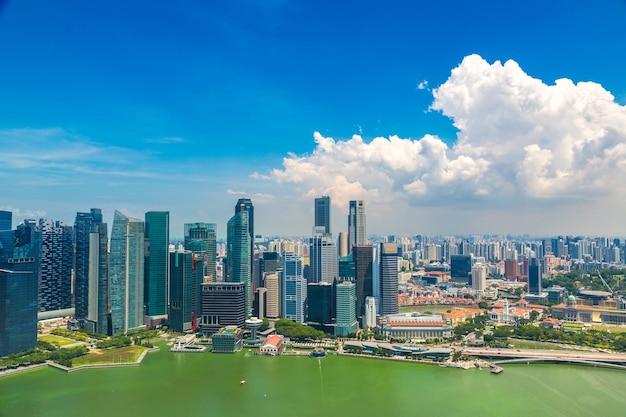 Panoramisch luchtfoto van singapore