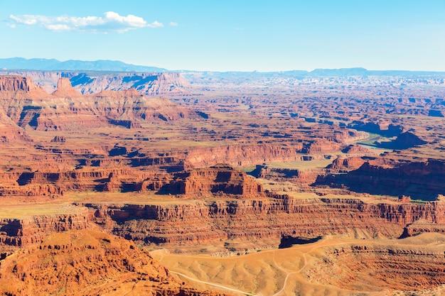 Panoramisch uitzicht op de canyon in dead horse state park, utah, vs