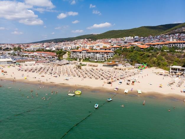 Panoramisch uitzicht op resort in sveti vlas in bulgarije