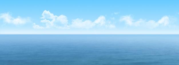 Panoramisch uitzicht over de zee