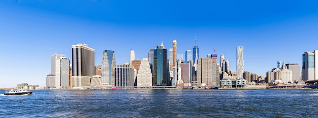 Panoramisch van manhattan in new york
