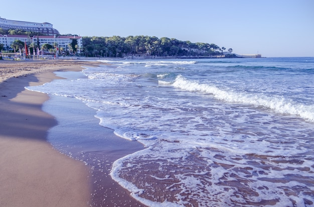 Panoramisch zicht op een strandlandschap