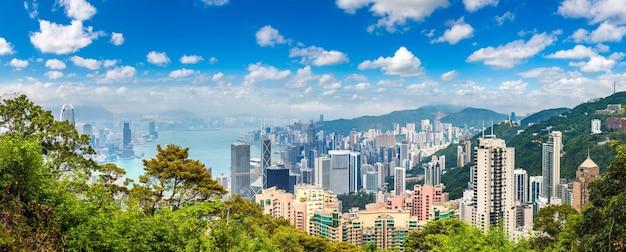Panoramisch zicht op hong kong