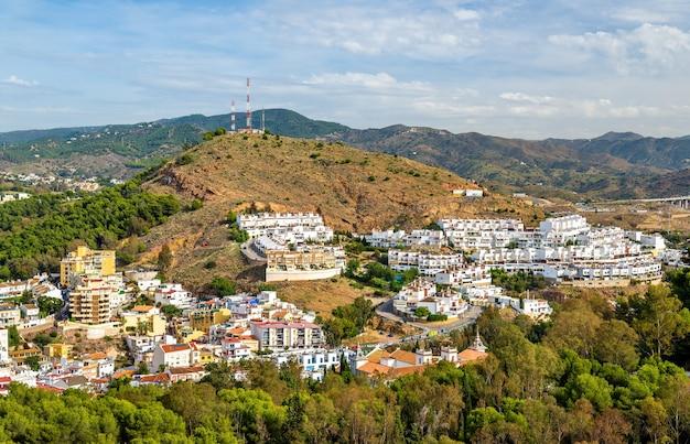 Panoramisch zicht op malaga van gibralfaro castle in spanje