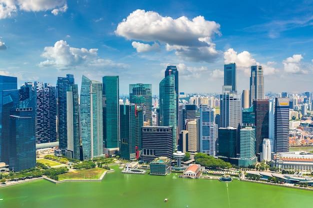 Panoramisch zicht op singapore