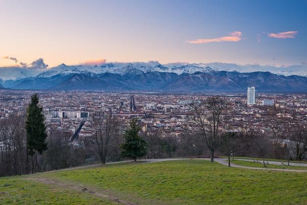 Panoramisch zicht op turijn