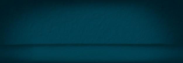 Panoramische blauwe verfrommeld papier studio achtergrond