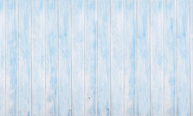 Panoramische witte en blauwe houten raadstextuur en achtergronden