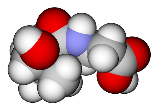 Pantotheenzuur vitamine bd moleculair model