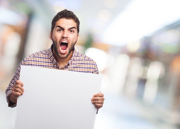 Paper schreeuwen achtergrond mensen wit