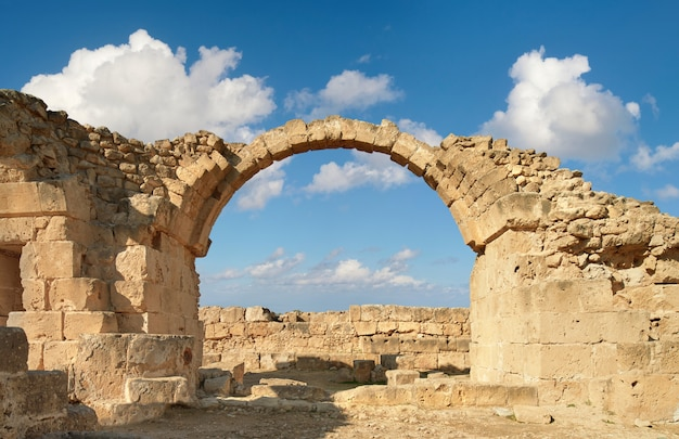 Paphos archeologisch park in kato pafos in cyprus