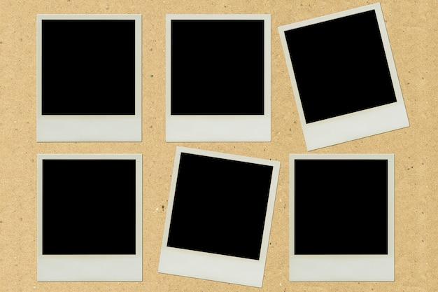 Papier fotolijst pasta op bruin papier