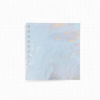 Papier met blauwe aquarelachtergrond