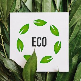 Papier met eco-bericht