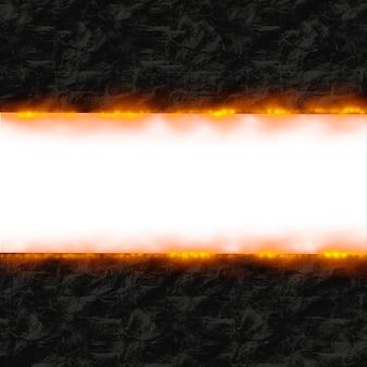 Papier op vuur frame achtergrond