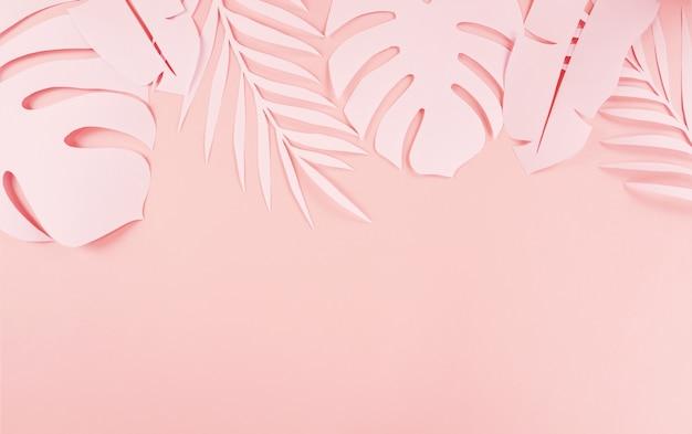 Papier snijden palmbladeren