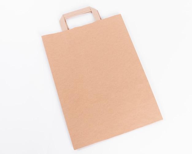 Papieren boodschappentas hoge weergave