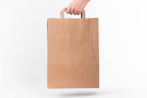 Papieren boodschappentas met schaduw