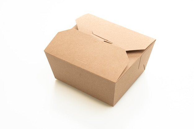 Papieren doos geïsoleerd