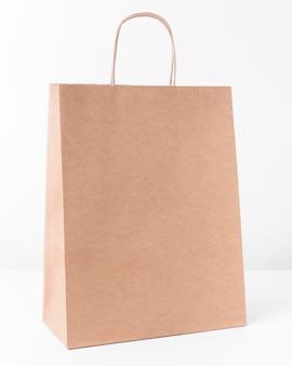 Papieren draagtas om in te winkelen