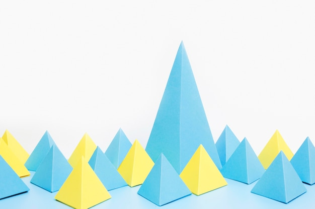 Papieren geometrische vormen