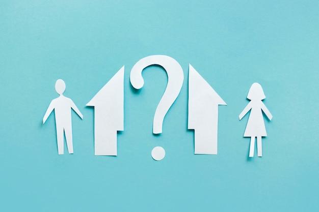 Papieren gezinswoning gescheiden