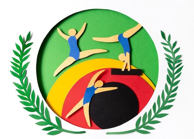 Papieren gymnastiekwedstrijd Gratis Foto