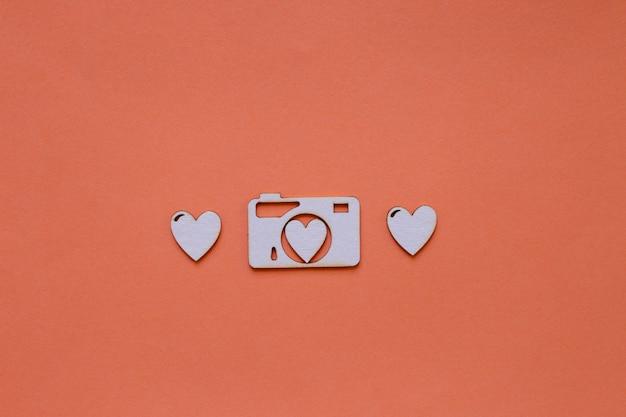 Papieren harten en camera