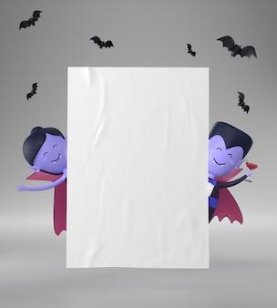 Papieren pagina met halloween-decoraties