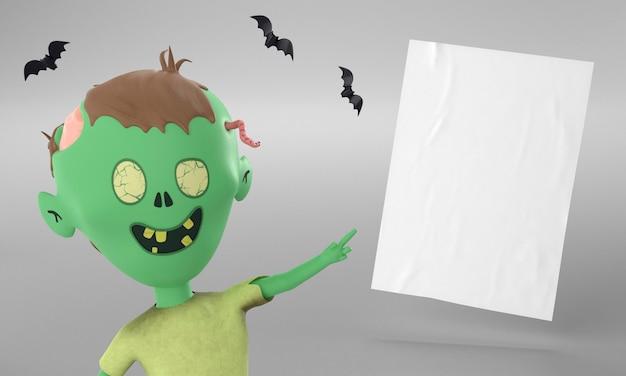Papieren pagina met hulkdecoratie voor halloween