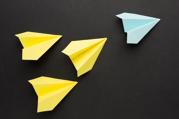 Papieren vliegtuig collectie