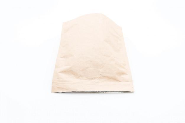 Papieren zak op wit