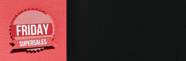 Papiersamenstelling met black friday-aanbieding