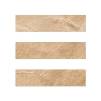 Papierset-set. sluit omhoog van een stuk van notadocument. stukje krant