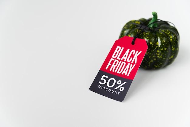 Paprika met zwarte vrijdag-tag