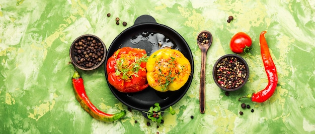 Paprika stufed met vlees