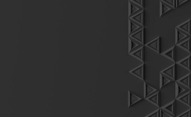 Parametrische achtergrond op basis van driehoekig raster met een ander patroon van verschillende 3d-illustraties