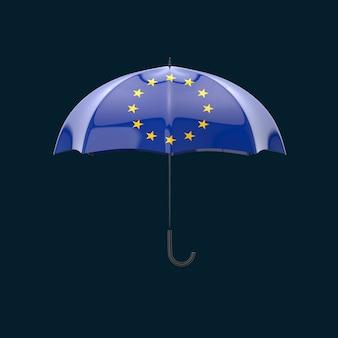 Parapluconcept - 3d illustratie