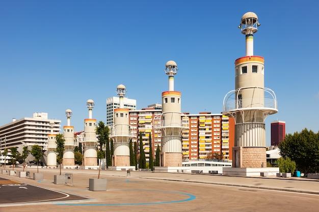 Parc de espanya industrieel in zomerdag