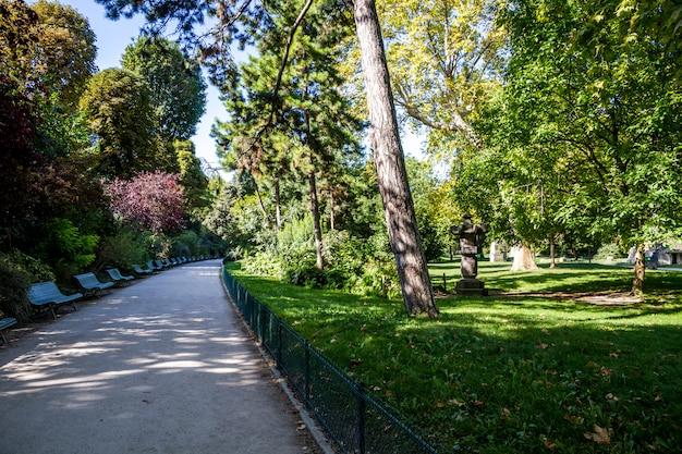 Parc monceau, parijs, frankrijk
