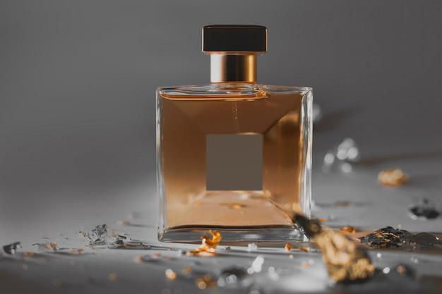 Parfumerie, cosmetica. vrouwelijke fles parfum