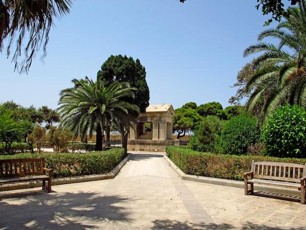 Park in valletta, malta