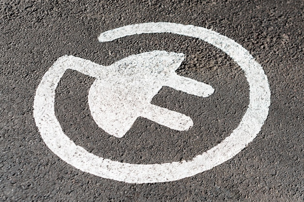 Parkeerplaats voor het opladen van elektrische auto's