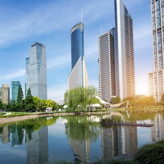 Parken en moderne architectuur