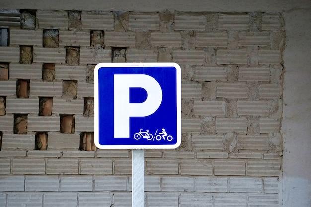 Parkeren teken op straat