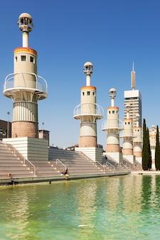 Parque de la espana industrieel in barcelona