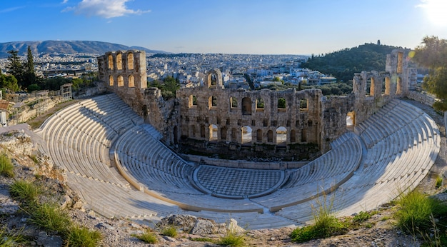 Parthenon tempel in de akropolis van athene, griekenland.